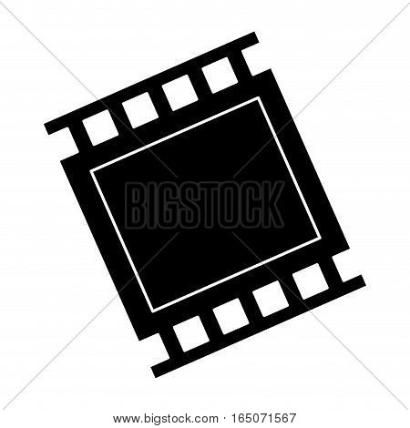 film strip icon over white background. entertainment and technology design. vector illustration