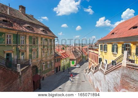 Sibiu is a city in the heart of Romania. It was the capital of Transylvania in the antiquities. poster