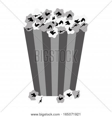 popcorn bucket icon over white background. vector illustration
