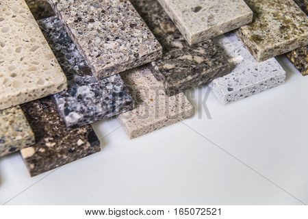 Isolated colorful granite stone countertops for bathroom and kitchen cabinets. Stone, Bathroom, Kitchen, Countertops, Counters, Granite, Marble, Floor, Tiles, Slabs
