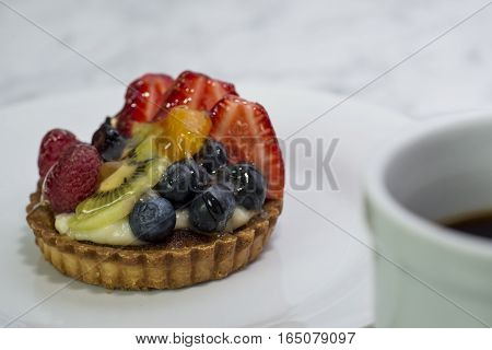 A Fruit pastry is a nice start to the morning