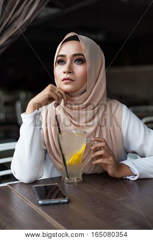 Malay Woman Eating