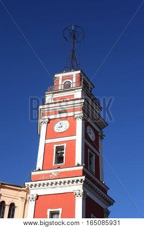 The City Duma tower  on Nevsky Prospekt in Saint-Petersburg, Russia