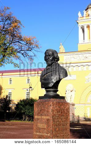 Saint-Petersburg, Russia - August 14, 2016 - A monument of world famous composer Glinka in August 14, 2016 in St. Petersburg, Russia