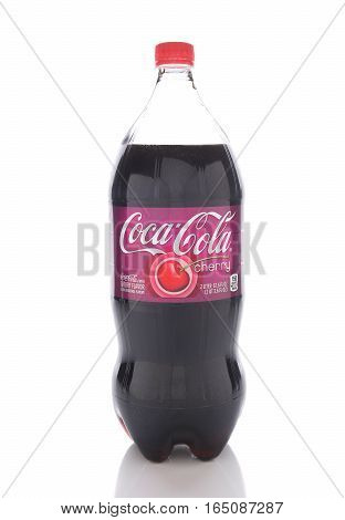 IRVINE CALIFORNIA - JANUARY 13 2017: Coca-Cola Cherry. Introduced in 1985 it is a cherry-flavored version of Coca-Cola.