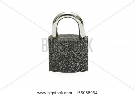 Isolated Lock And Key Chain On White Background