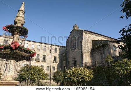 Convent of San Francisco, Pontevedra, Galicia, Spain. It was built between the 14th and 15th centuries using the latin cross ground plan with three