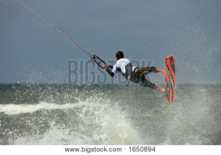 Kiteboard Aktion