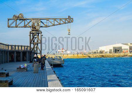 Tel-aviv Port Scene