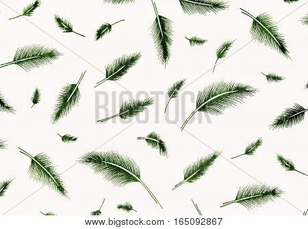 Green feathers pattern can be used a background