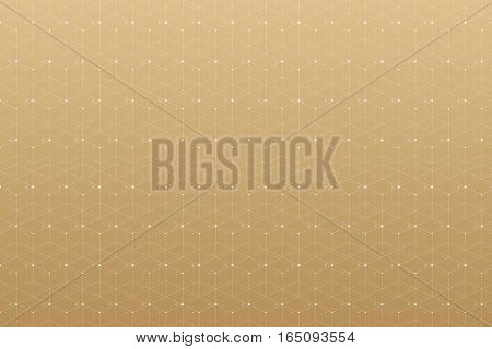 Geometric pattern with connected line and dots. Graphic background connectivity. Modern stylish polygonal backdrop for your design. Vector illustration