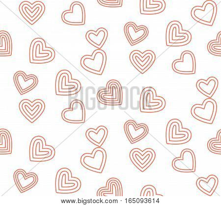 cute line valentine day pattern background,vector Illustration EPS10