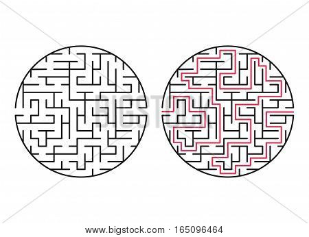 Vector labyrinth 60. Maze / Labyrinth with entry and exit.