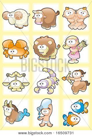 Funny Zodiac with Background
