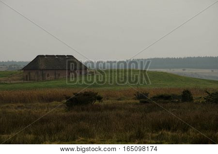 Solitary monastery at Stubbe, Stubbegård, Stubbegaard, lake, Denmark