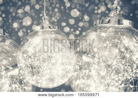 Double Exposure Of Ight Bulb In Monochrome. Abstract Background.