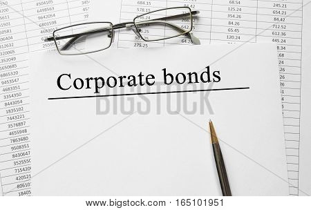 Paper With Corporate Bonds On A Table