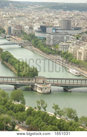 River Seine From The Eiffel Tower