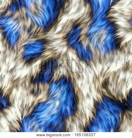 A completely seamless soft faux fur animal print fabric.