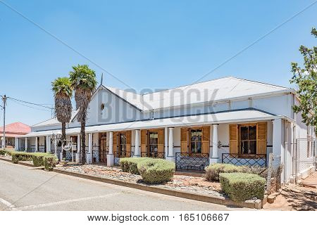 FAURESMITH SOUTH AFRICA - DECEMBER 31 2016: An historic old house dated 1882 in Fauresmith a small town in the Free State Province