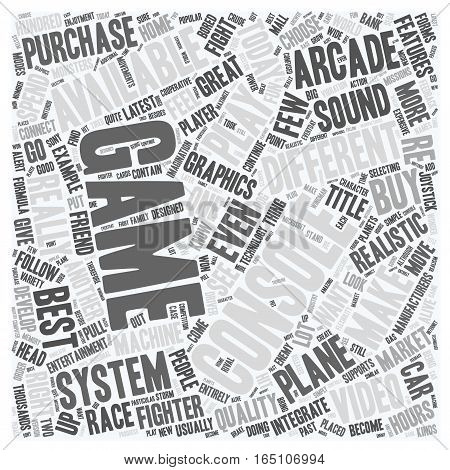 best video game system 1 text background wordcloud concept
