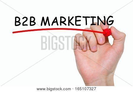 Hand Writing Inscription B2B Marketing With Marker, Concept