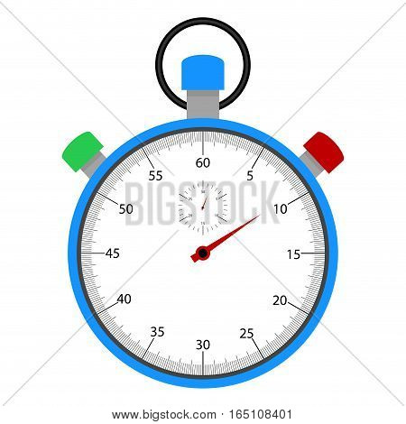 Stopwatch with dial. Watch timer vector. illustration of chronometer