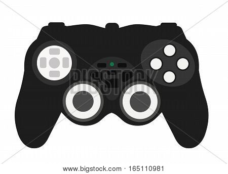 Joypad game console on a white background. Flat vector isolated illustration poster