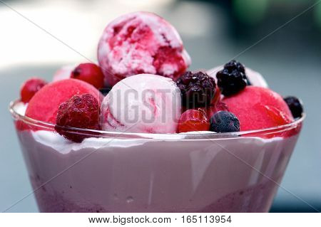 Close-up Image Of Melted Strawberry Ice Cream