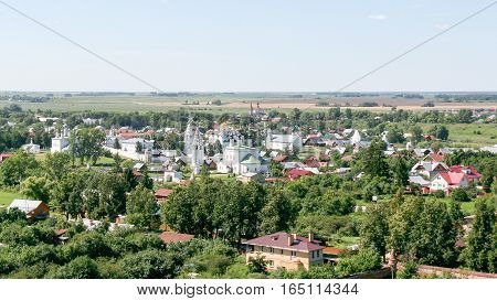 View of the Intercession Monastery from the bell tower, Russia, Suzdal
