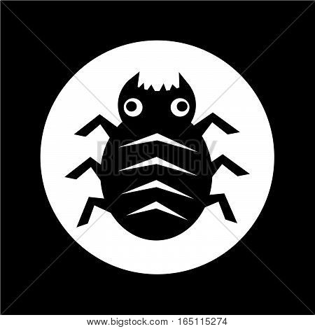 an images of Cyber Bug Icon illustration design