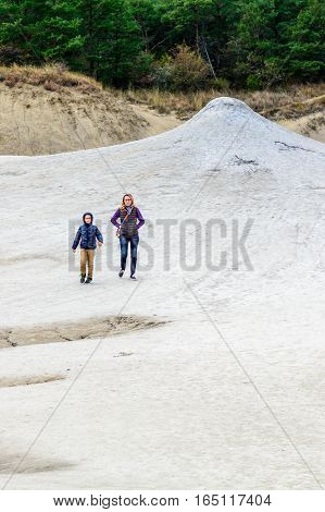 Berca Romania - October 20 Mud vulcanoes on 20 October 2016 in Berca Romania. Natural park with