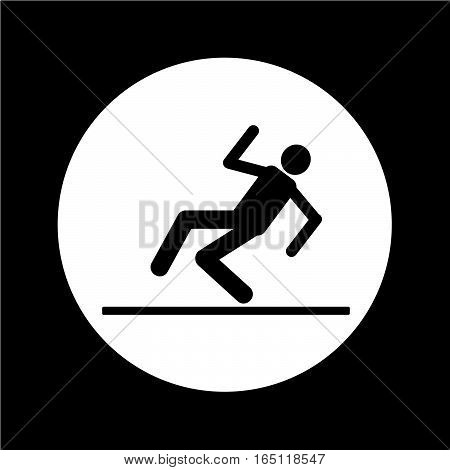 an images of Or pictogram slippery floor sign icon illustration design