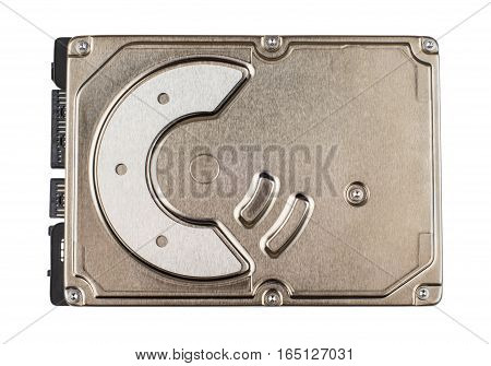 Hard Drive With Metal Cover Isolated On White