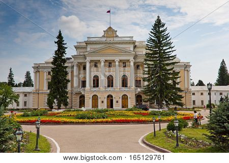 Central part of an ancient noble mansion. Estate Maryino, Kursk region poster