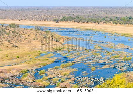 Olifants River Panorama From Satara Camp Viewpoint, Kruger National Park