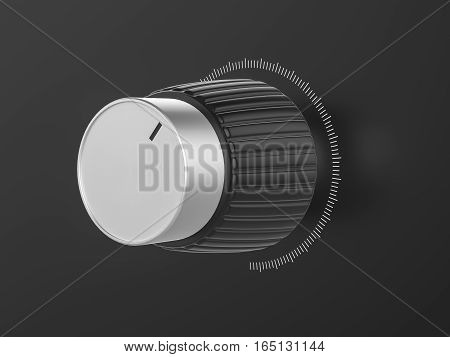 Control Knob 3D Illustration