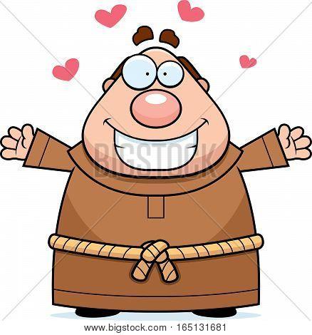 Cartoon Monk Hug