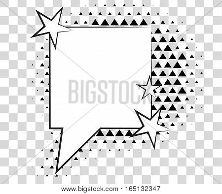 Comic speech bubbles with halftone triangles shadows. Vector illustration eps 10 isolated on background