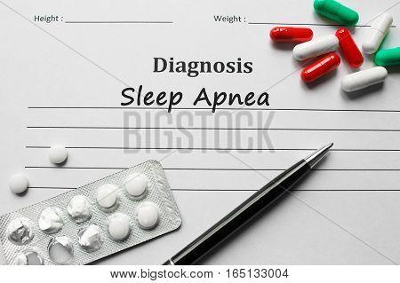 Sleep Apnea On The Diagnosis List, Medical Concept