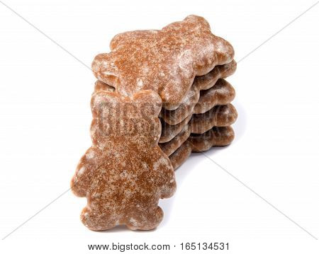 traditional gingerbread isolated on white background ,