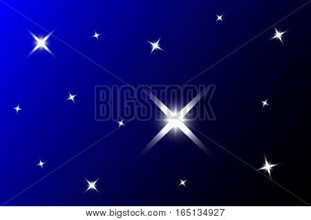 blue background with stars , starry sky