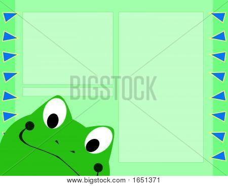 Scrapbook Page Layout - Frog