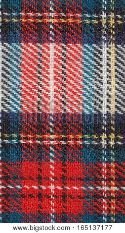 Tartan Fabric Background - Vertical