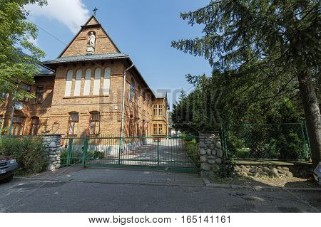 ZAKOPANE POLAND - SEPTEMBER 14 2016: Monastery Congregation of the Sisters Servants of the Sacred Heart of Jesus was built in 1906 and was registered as a monument in 2010