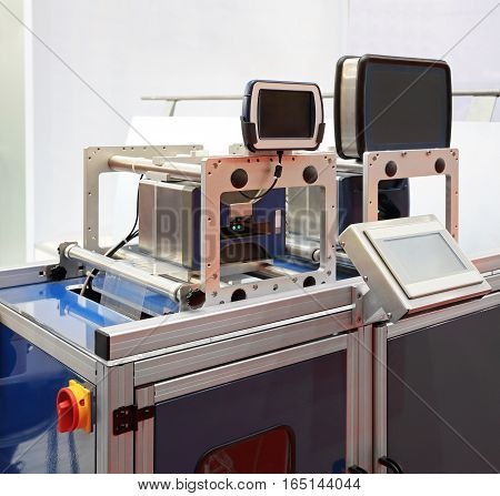 Thermal Transfer Printer at Packing Line in Factory