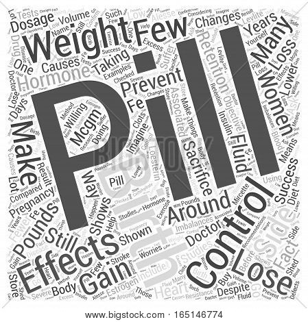 Birth Control Pills and Weight Loss Word Cloud Concept
