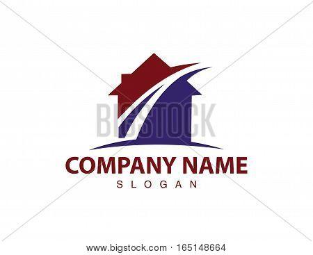 blue Street house logo on white background