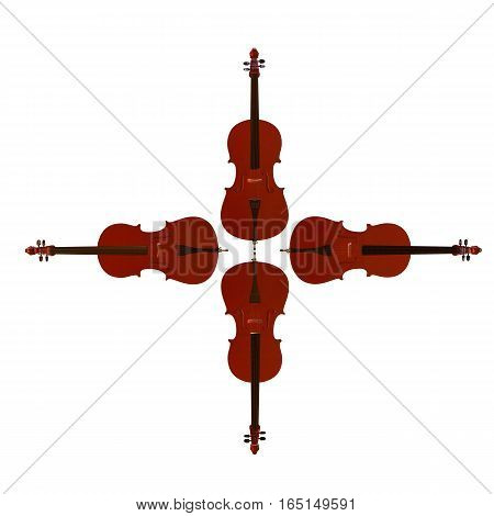 Cello Musical Instrument 3D Illustration