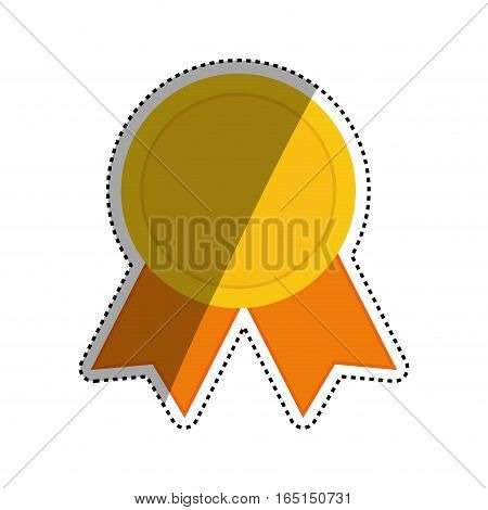 Medal award ribbon icon vector illustration graphic design